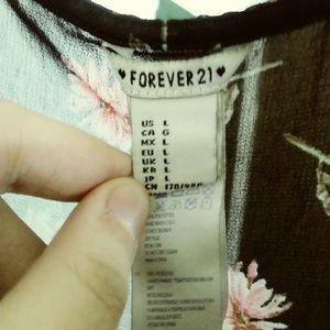 Forever 21 Tops - 2/$15⭐ (Sheer) Black floral top (Forever 21)